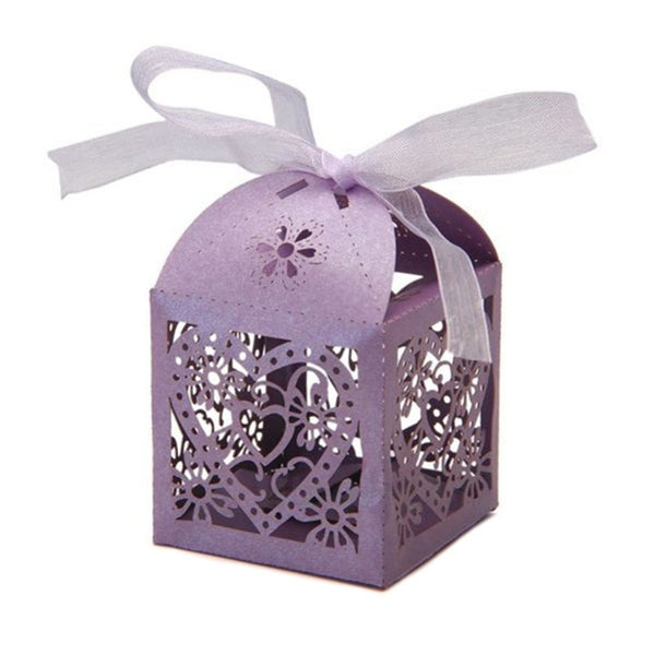 10 Pc. Heart Laser Cut Favors Candy Boxes -  [product_type] - ShaadiMagic