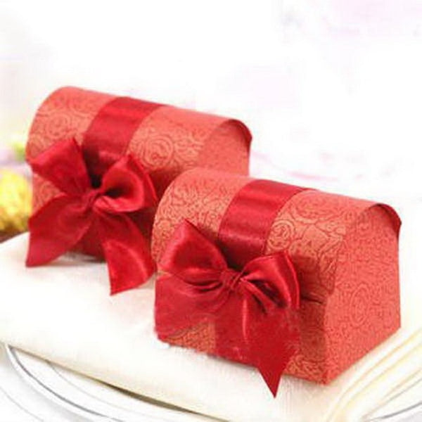 100 Pc. Bright Shiny Bow Favor Boxes