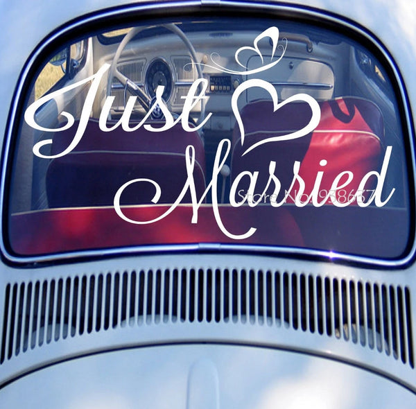 Just Married Vinyl Stickers -  [product_type] - ShaadiMagic