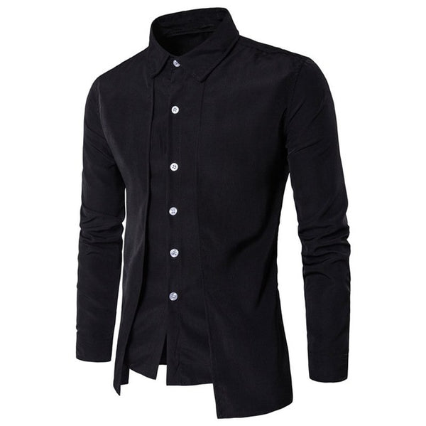 Lapel Neck Buttons Down Tuxedo Shirts