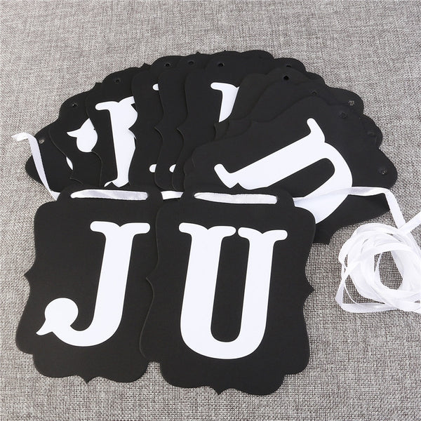 JUST MARRIED Paper Bunting Banner