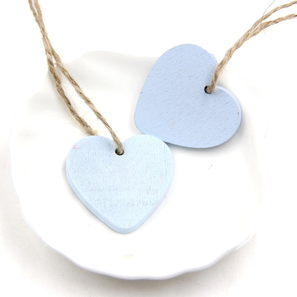 Hearts Wooden Pendants Decor / Favors