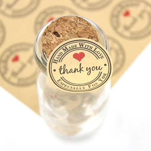 120 Pc. Thank You Kraft/White Paper Gift Tags Stickers -  [product_type] - ShaadiMagic