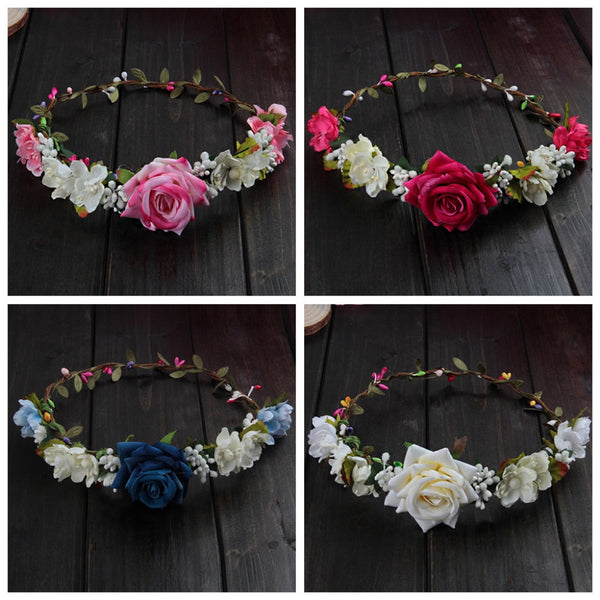 Wedding Flower Hair Garland Crown Headband -  [product_type] - ShaadiMagic