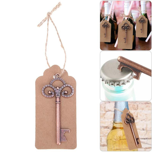 12 Pc Retro Key Wine Bottle Opener with Tags -  [product_type] - ShaadiMagic