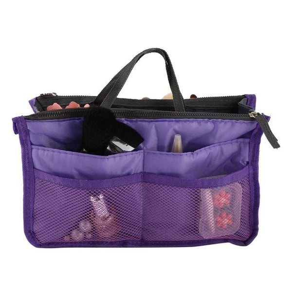 Portable Double Zipper Polyester Makeup Cosmetic Toiletry Multipurpose Bag -  [product_type] - ShaadiMagic