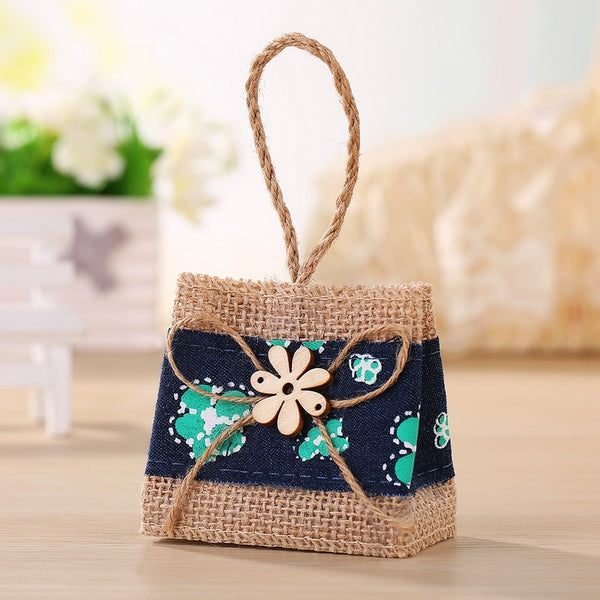 24 Pc. Wedding Burlap Bag Favor Gift -  [product_type] - ShaadiMagic