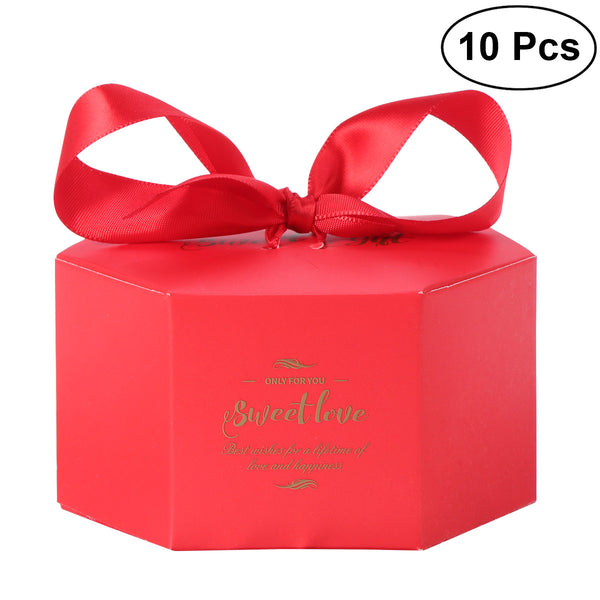 10 Pc. Candy Boxes Creative Hexagram -  [product_type] - ShaadiMagic