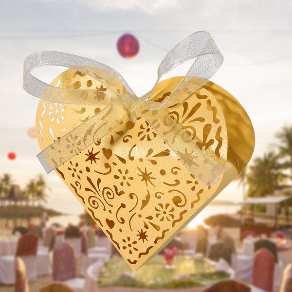50 Pc. Heart Shaped Favor Boxes -  [product_type] - ShaadiMagic