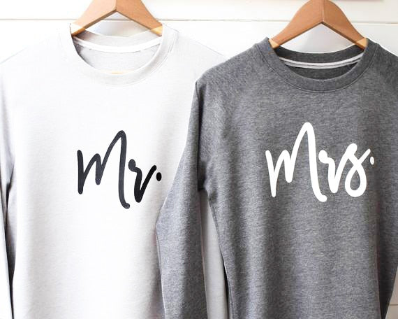 Mr and Mrs Sweat Shirts -  [product_type] - ShaadiMagic