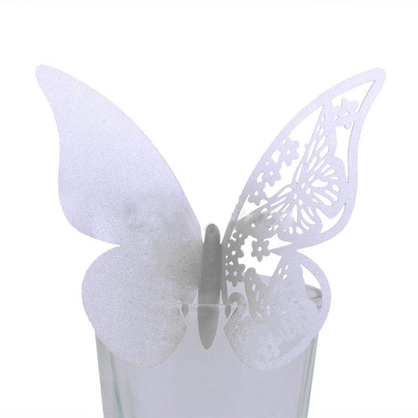 50 Pc. Laser Butterfly Cup Place Card -  [product_type] - ShaadiMagic