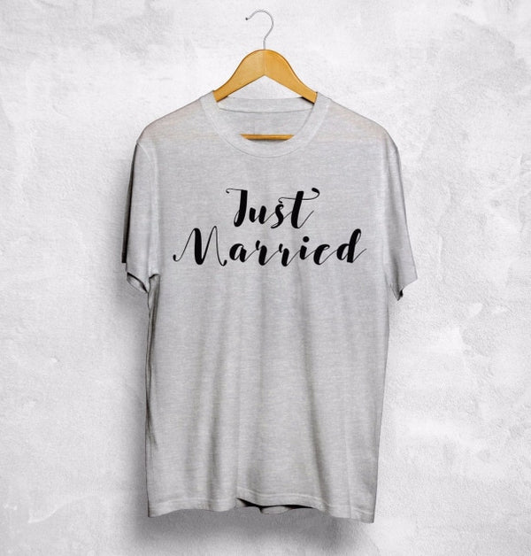 Just Married T-Shirt Wife Husband -  [product_type] - ShaadiMagic