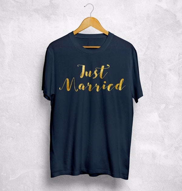Just Married T-Shirt Wife Husband