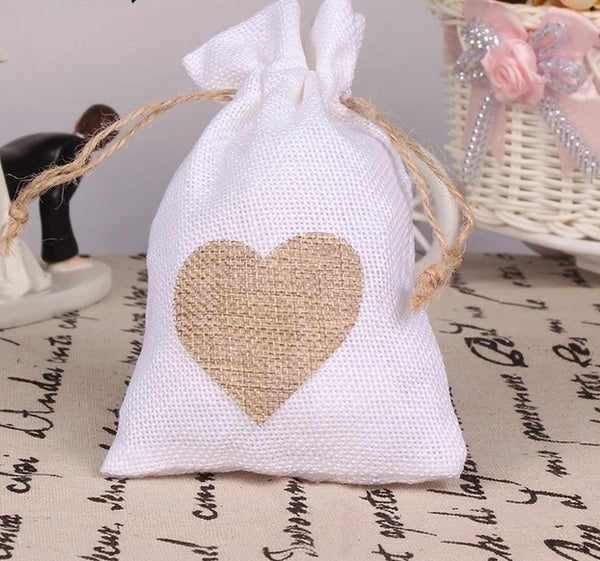 "12 Pc. ""Love In Heart"" Favor Bags -  [product_type] - ShaadiMagic"