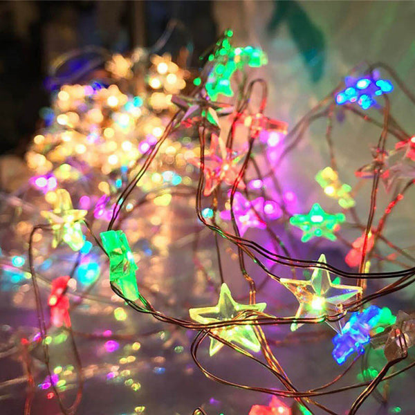 Star Copper Wire String Lights LED -  [product_type] - ShaadiMagic