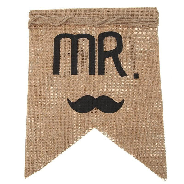 Mr. Mrs. Jute Chair Banner Groom Bride Sign -  [product_type] - ShaadiMagic
