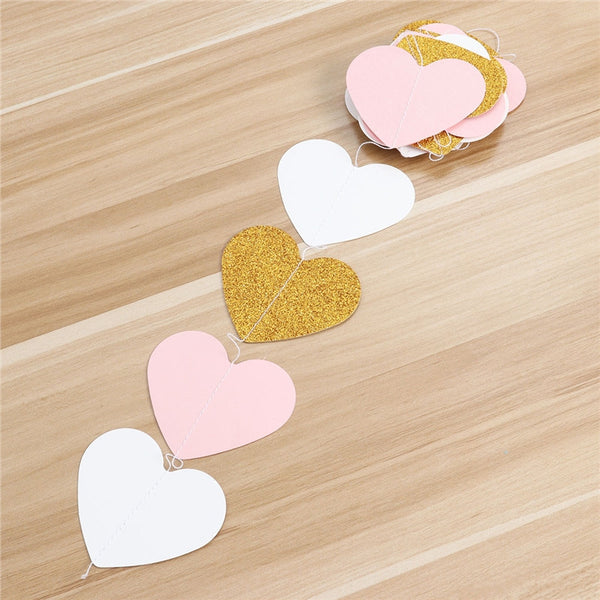 Love Heart Decoration Bunting Banner