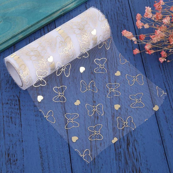 Tulle Roll Butterfly Snow Yarn Sheer Organza Fabric -  [product_type] - ShaadiMagic