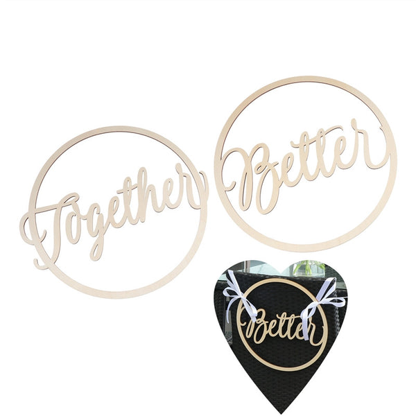 Bride & Groom Chair Signs Better Together -  [product_type] - ShaadiMagic