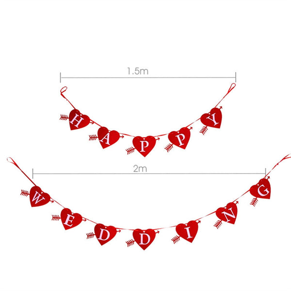 HAPPY WEDDING Banner Heart Shaped -  [product_type] - ShaadiMagic