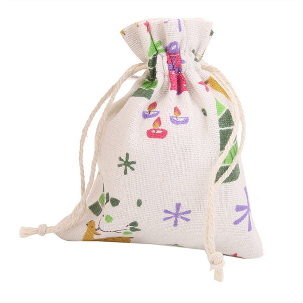 10 Pc. Linen Jute Burlap Sack Pouch -  [product_type] - ShaadiMagic