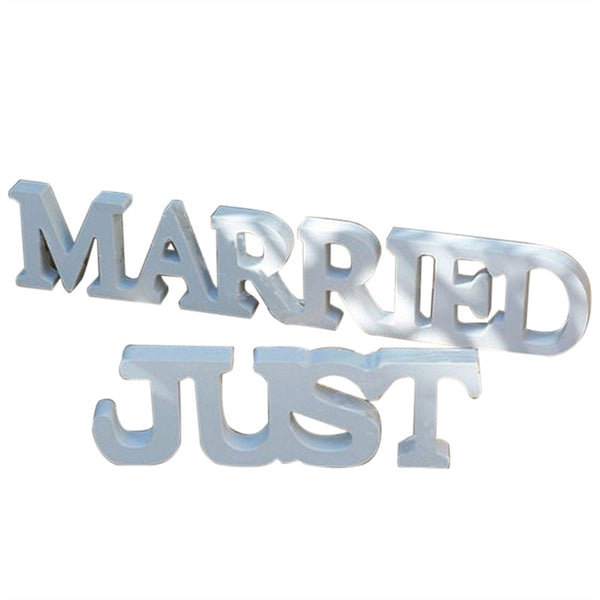 JUST MARRIED Wooden Letters Wedding Decoration
