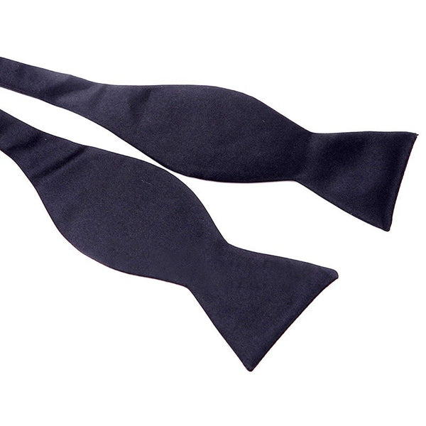 Solid Color Plain Satin Bow Tie