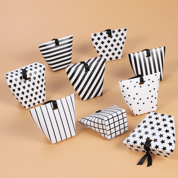 Black & White Candy Treat Boxes Favors -  [product_type] - ShaadiMagic