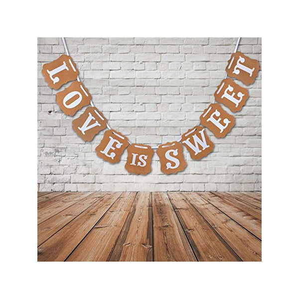 LOVE IS SWEET Card Paper Bunting Banner -  [product_type] - ShaadiMagic