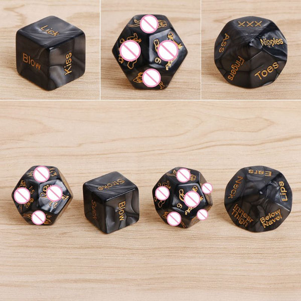 4 Pc. Acrylic Love Sex Erotic Dice