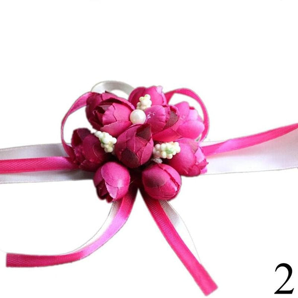 Rose Corsage Wrist Bridesmaid Sisters Bride -  [product_type] - ShaadiMagic