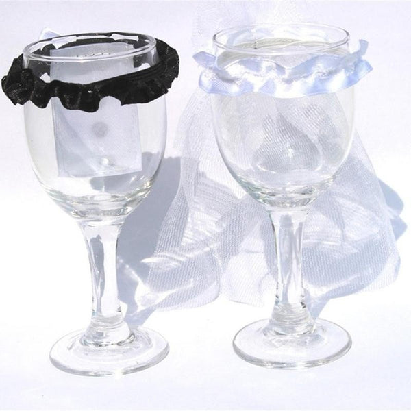Wine Champagne Glass Lid Decor -  [product_type] - ShaadiMagic