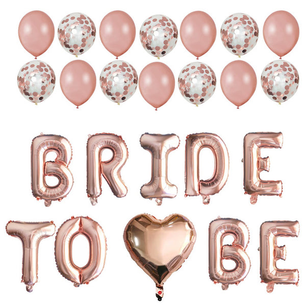 "24 Pc. ""Bride to be"" Balloons -  [product_type] - ShaadiMagic"