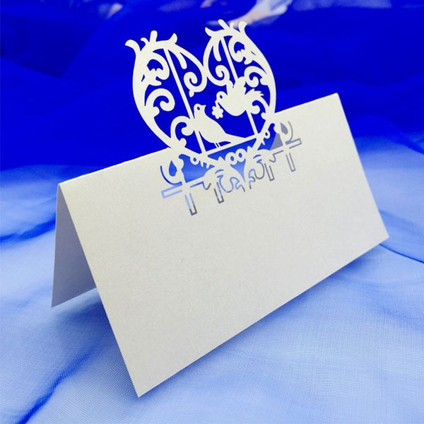 10 Pc. Carved Heart Birds Invite Cards -  [product_type] - ShaadiMagic