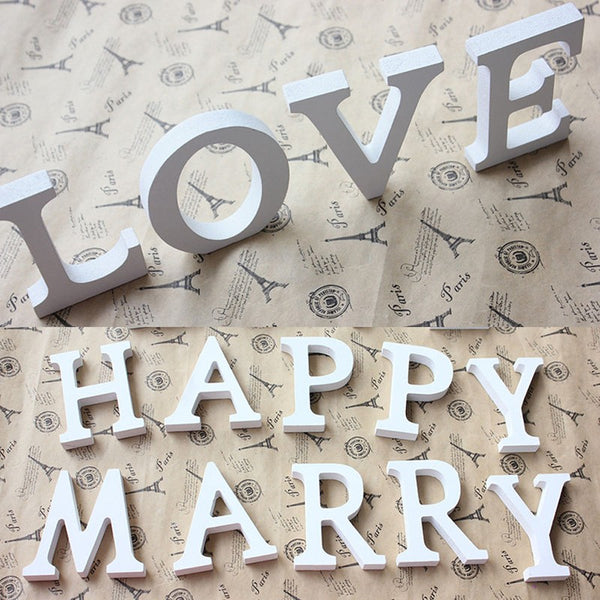 26 Large Wooden Decor Letters -  [product_type] - ShaadiMagic
