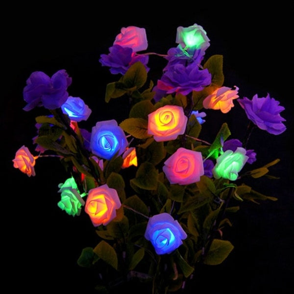 Rose Flower String LED Lights Lamp