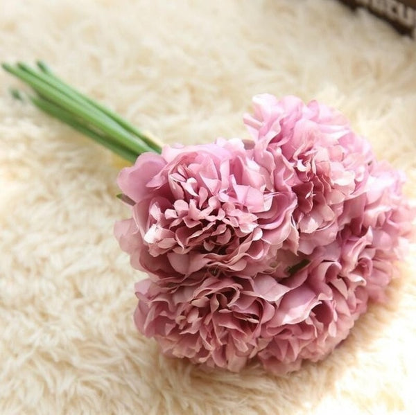 Lovely Hydrangea Flower Bouquet Silk -  [product_type] - ShaadiMagic