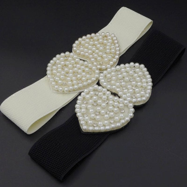 Ultra-Wide Elastic Waistband Faux Pearl -  [product_type] - ShaadiMagic