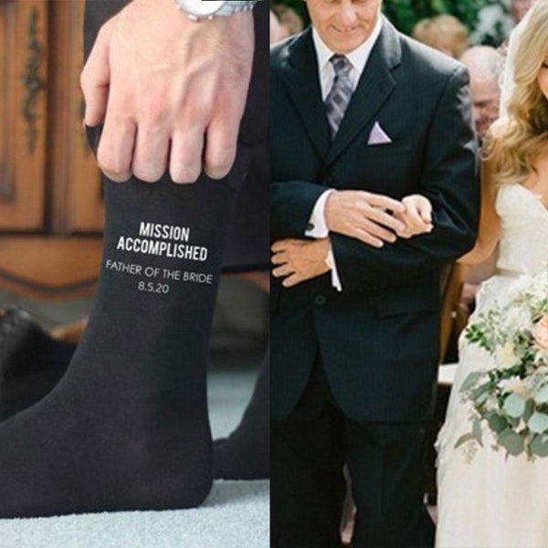 Wedding Socks For  Father Of The Bride