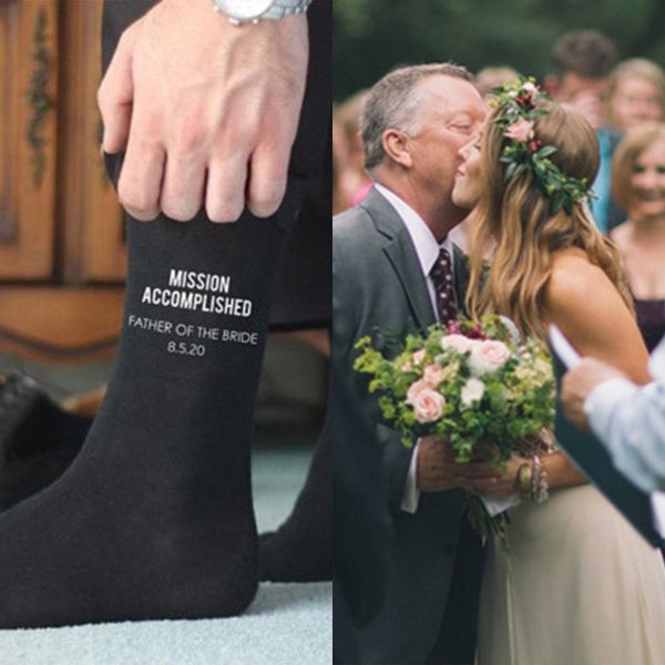 Wedding Socks For  Father Of The Bride -  [product_type] - ShaadiMagic