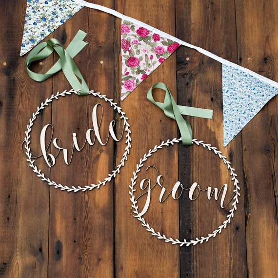 Bride & Groom Chair Signs -  [product_type] - ShaadiMagic