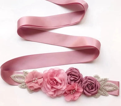 Rose Simulated Pearl Belt -  [product_type] - ShaadiMagic