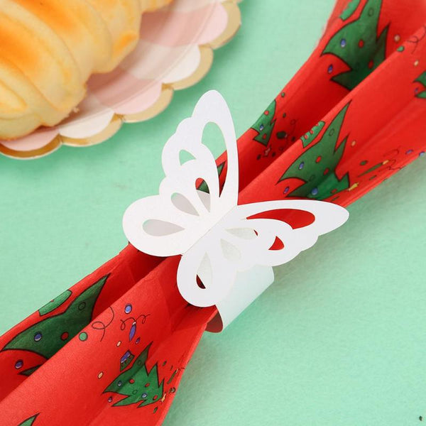 Butterfly Paper Napkin Rings Hollow -  [product_type] - ShaadiMagic