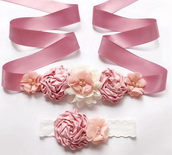 Dress Belt & Head Band Pink -  [product_type] - ShaadiMagic