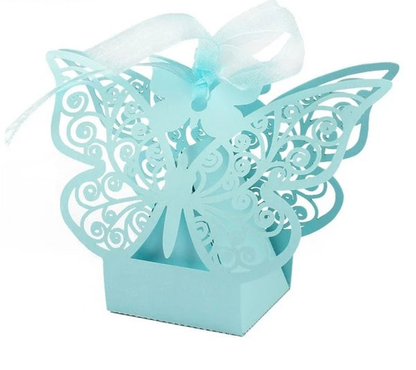 10 Pc. Colored Butterfly Favors Paper Candy Bags -  [product_type] - ShaadiMagic