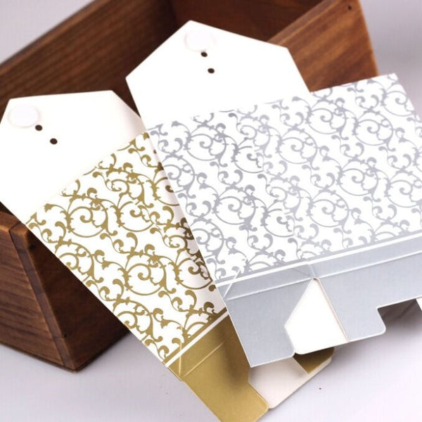 100 Pc. Gold Silver Wedding Favor Boxes -  [product_type] - ShaadiMagic