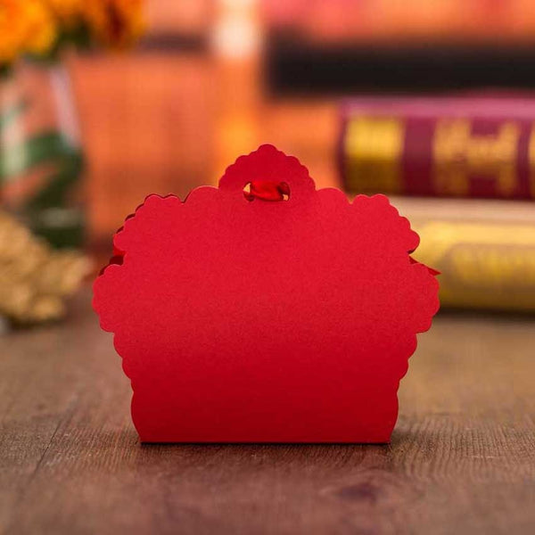 100 Pc. Red Laser Cut Favor Boxes -  [product_type] - ShaadiMagic