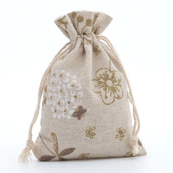 30 Pc. Rose Jute Drawstring Favor Bag -  [product_type] - ShaadiMagic