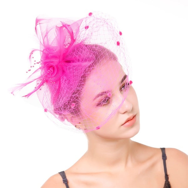 Feather Beads Hair Veil -  [product_type] - ShaadiMagic