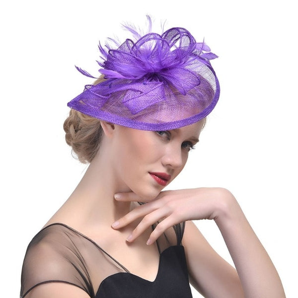 Feather Mesh Headdress Hat -  [product_type] - ShaadiMagic